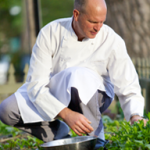 Chef Bradford chooses the freshest local ingredients