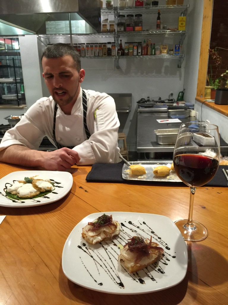 Chef Guarasci explaining his food and his credo.