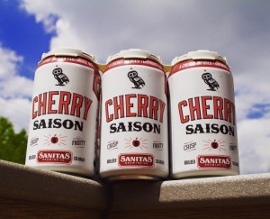 Sanitas Cherry Saison  Photo by Sanitas Brewing.