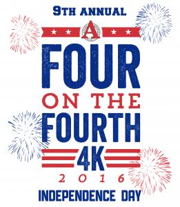 Four on the Fourth 4K logo 2